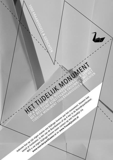 Het tijdelijk monument, flyer